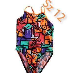 Funkita Sz 12 Girls Keyhole Back Swimsuit